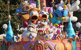 ドナルドとデイジーのキス画像!ハピネス・イズ・ヒア(パートナーズ像横から撮影)