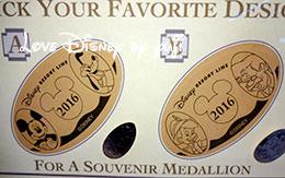 「ディズニーリゾートラインのスーベニアメダル」全種類!2016年1月現在