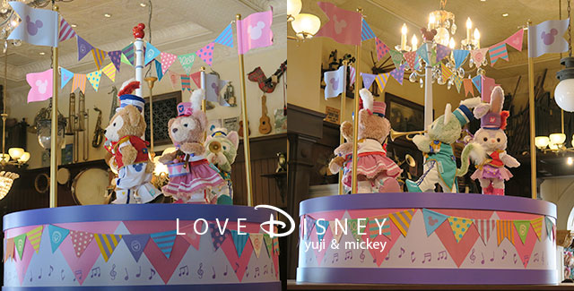 Duffy and Friends「Happy Marching Fun」飾付(マクダックス・デパートメントストア)店内
