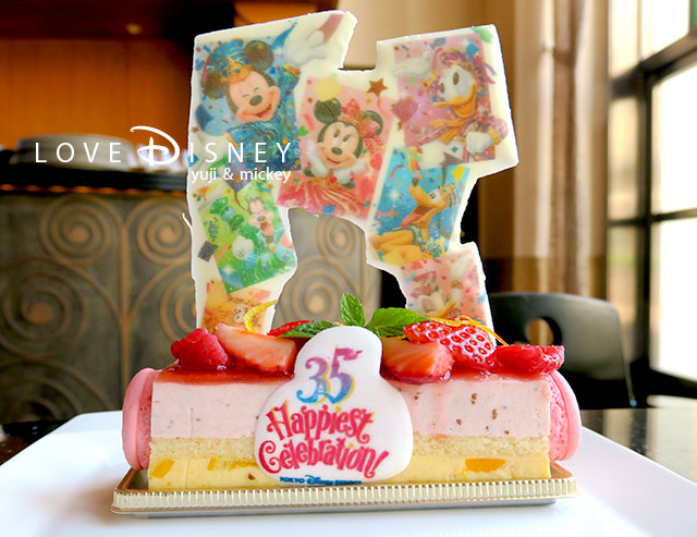 Tokyo Disney Resort 35th「Happiest Celebration!」ケーキ(ストロベリームース)