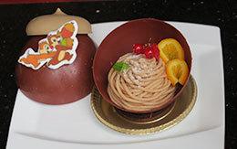 チップ&デールをイメージした「ハイピリオン・ラウンジのスペシャルケーキセット(モンブラン)」紹介!