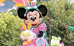 気球に乗ったミニーがうさたまを捕まえた!ディズニー・イースター2019