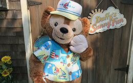 夏衣装を着た「ダッフィーとシェリーメイのグリ画像」&「ディズニースナップフォト」