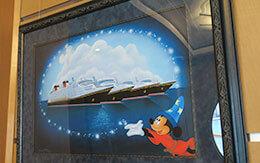 「ディズニークルーズ地中海+ローマ」旅行記〜船内に飾られている絵〜