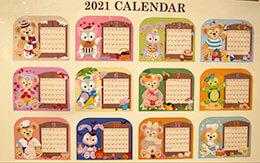 オル・メルが新しく参加!「ダッフィー&フレンズ」の2021年カレンダーとスケジュール帳
