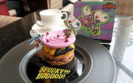 チップ&デールのコースターが付いてくる「ディズニー・ハロウィーン2021、ケーキセット」 in ハイピリオン・ラウンジ