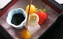 レストラン櫻のテラス席で頂く「東京ディズニーシー20周年スペシャルセット」